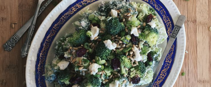 Salade de brocoli, canneberges et sauce crémeuse au Mascarpone ANCO