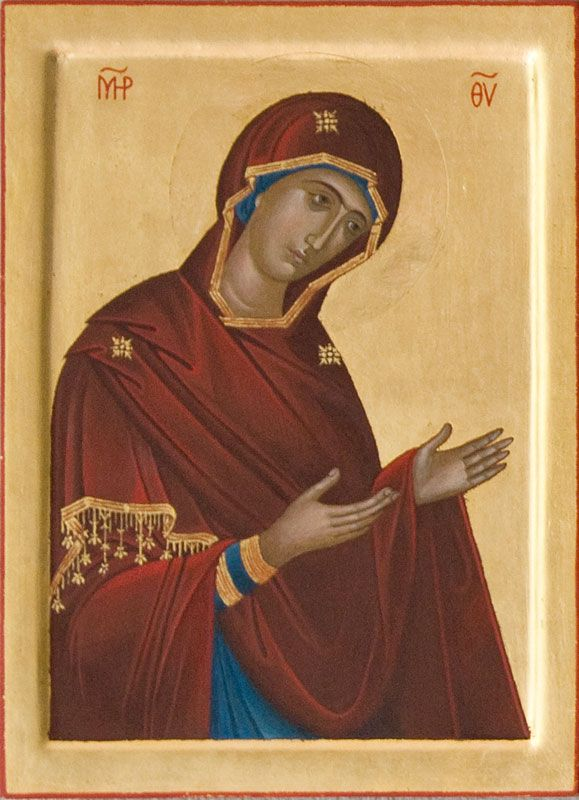 The Virgin Mary  After an icon by Euphrosynos, 1542, Dionysiou Monastery on Mount Athos