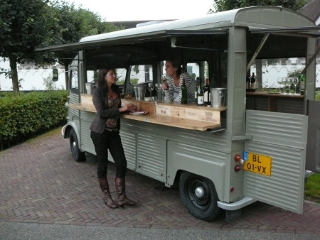 Mobiele wijnbar mobiele bar verhuur wijnproeverij op for Bar 96 food truck