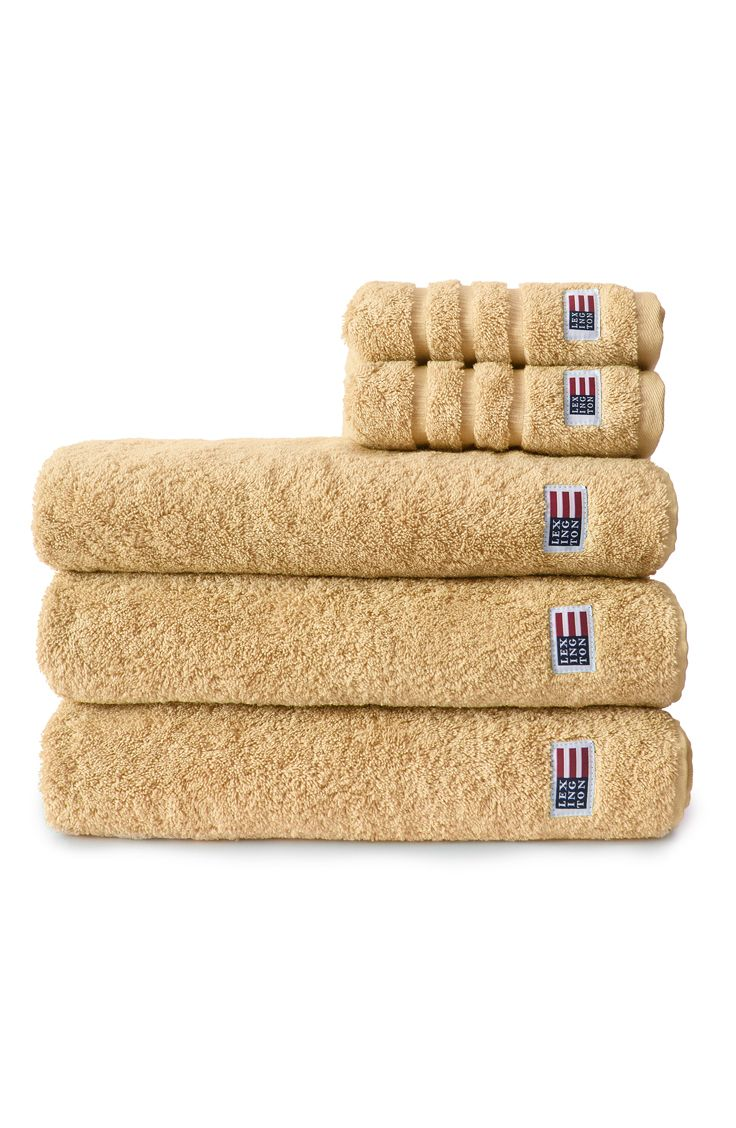 Lexington soft and heavy terry towel.  Light Yellow.