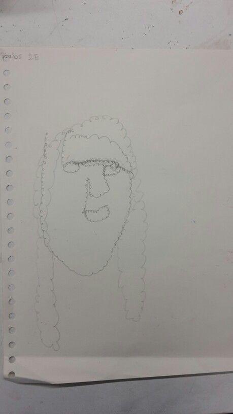 Tekening schets gezicht