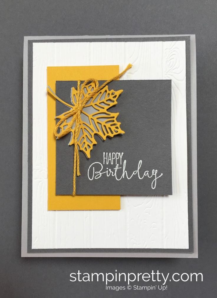 ORDER STAMPIN' UP! Learn how to create a simple autumn birthday card using Seasonal Layers Thinlits Dies. 1000+ card ideas. Clearance to 60%!