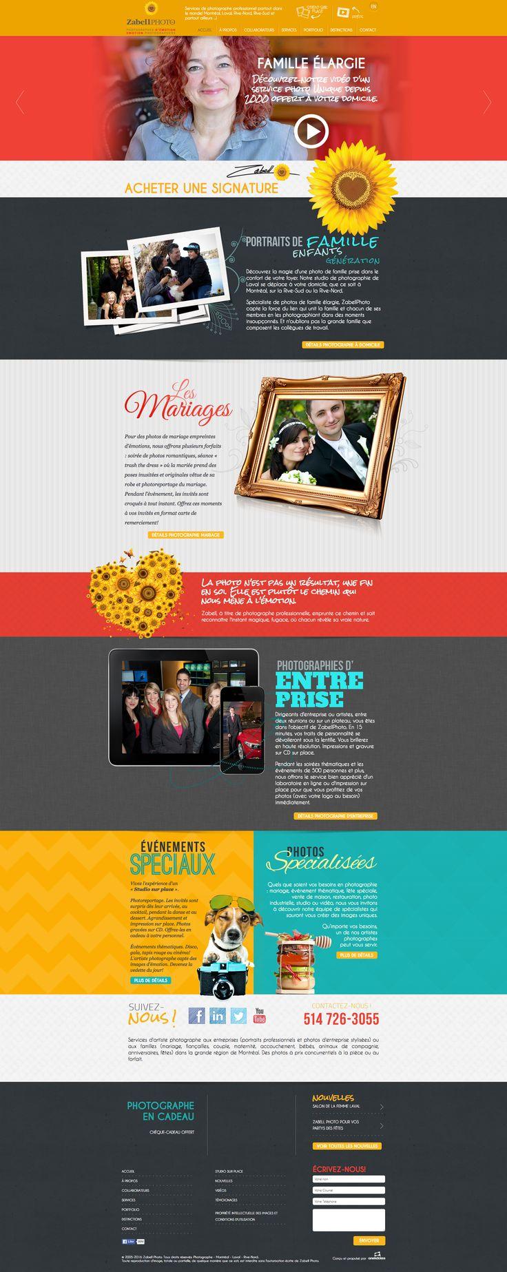 Nos Réalisations: Site web de Zabell Photo (Photographie spécialisée, mariage, entreprise) #photographie #mariage #famille #webdesign