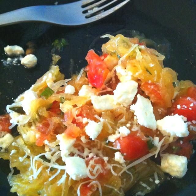 ... basil tomatoes and feta more fresh basil spaghetti squash basil