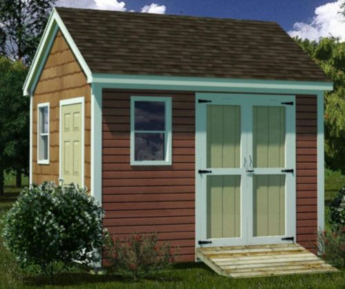 10x12 Shed Plans How to Build Guide Step by Step Garden Utility Storage | eBay