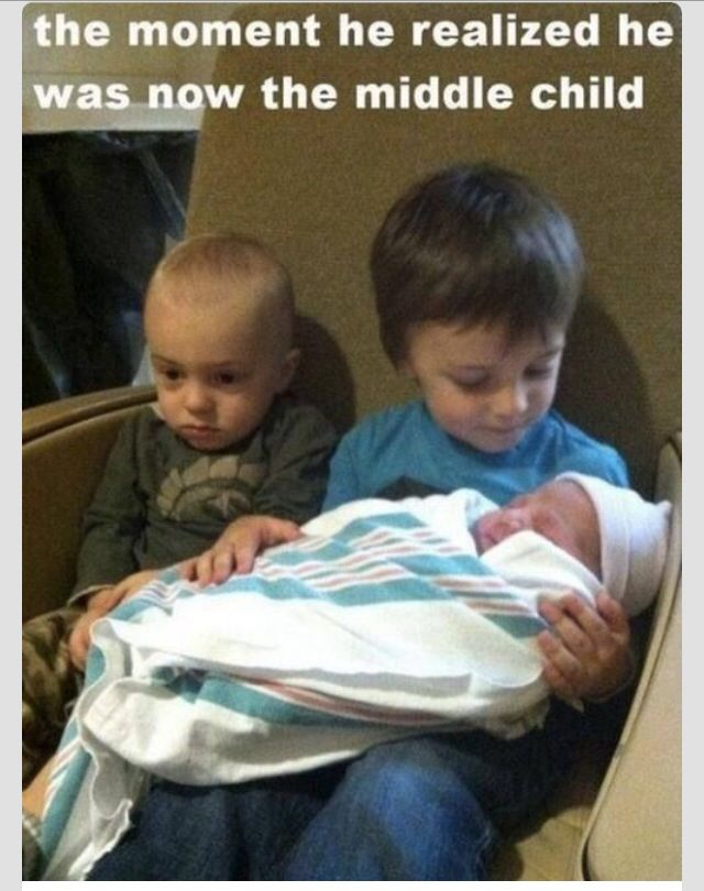And that is the way you will feel your whole life...#Middle Child Problems
