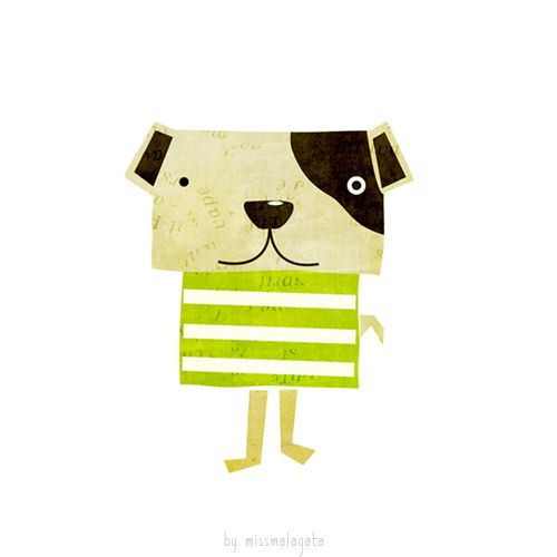 dog illustration by missmalagata