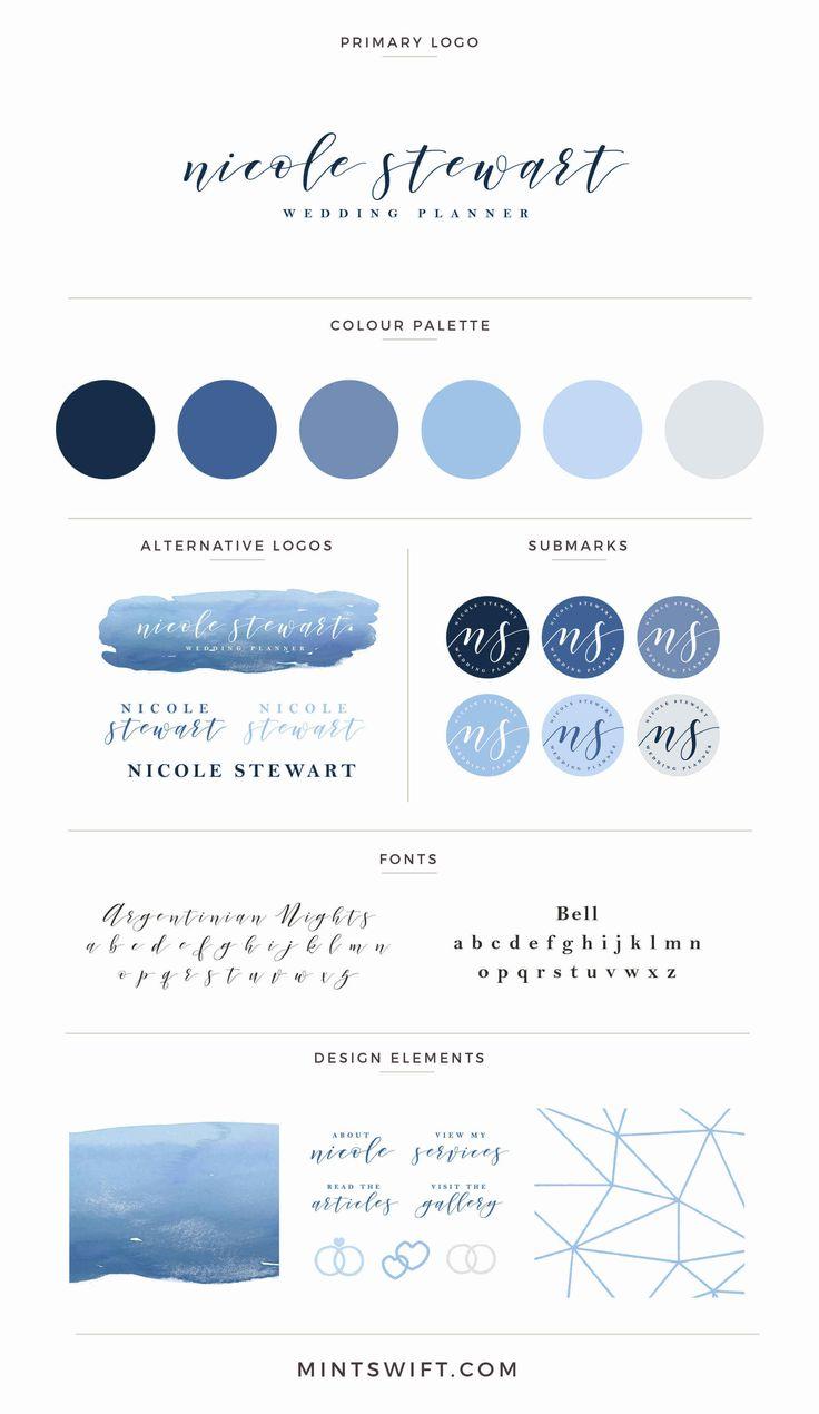 Nicole Stewart brand board - full brand design by MintSwift