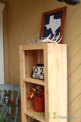 Rustic Bookcase from Cedar Fence Pickets