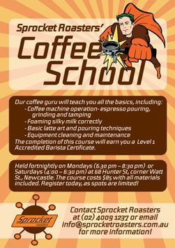 Sprocket Roasters' Coffee School!