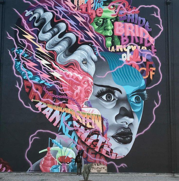 universal monsters mural Google Search Urban street