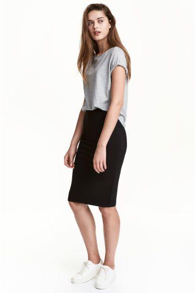 Dżersejowa spódnica - Czarny - ONA | H&M PL 1