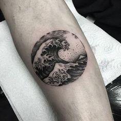 dotwork tattoo japanese wave - Recherche Google