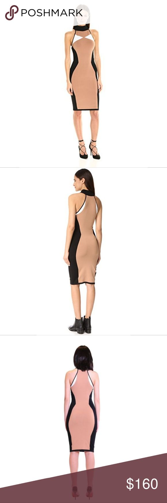 "Kendall and Kylie Jenner Illusion Halter Dress New with tags Kendall and Kylie Jenner/Kardashian Illusion Halter Dress   Bandage dress  Mock turtleneck sweater dress  Halter neckline  Pullover styling  Color block Illusion dress; slimming design  Neutral colors: beige, white, black  style for work/office wear or for a night out  Very stretchy and forgiving material  Note that the dress has some snags only on INTERIOR of dress but are not visible from EXTERIOR of dress  Bust: 31.5""  Waist…"