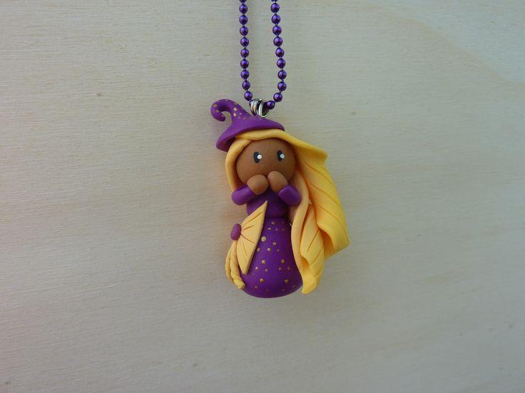 collier petite fille métisse violette : Collier par oeil-de-tigre