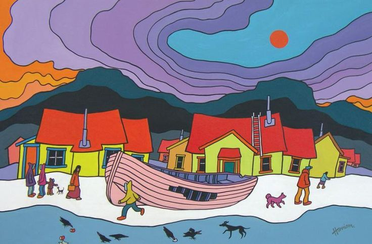 "Ted Harrison, ""Old Boat"" 1979"
