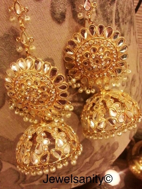 Golden jhumkies by jewelsanity