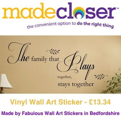 Product of the Week: vinyl wall art sticker made by Fabulous Wall Art Stickers in Bedfordshire