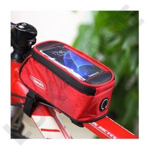 "ROSWHEEL cykeltaske til 4.8"" smartphones - Rød"