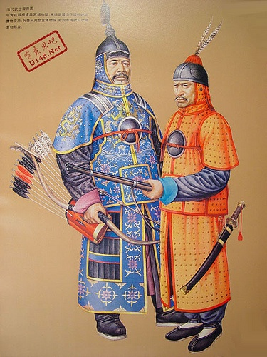 Qing Dynasty Warriors (founded by Manchu) (1644 CE - 1911 CE)