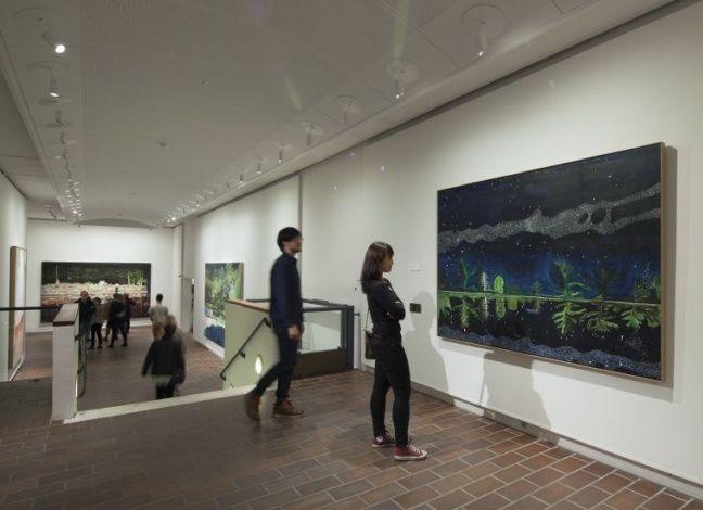 Installationshot from PETER DOIG, 17.4.2015 - 23.8.2015, Louisiana Museum of Modern Art. #peterdoig #painting #fluidworld #louisianamuseum #louisianamuseumofmodernart #louisiana