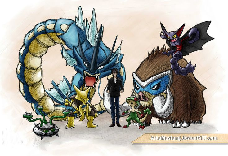 my last Gen 5 OU pokemon team by ArkaMustang