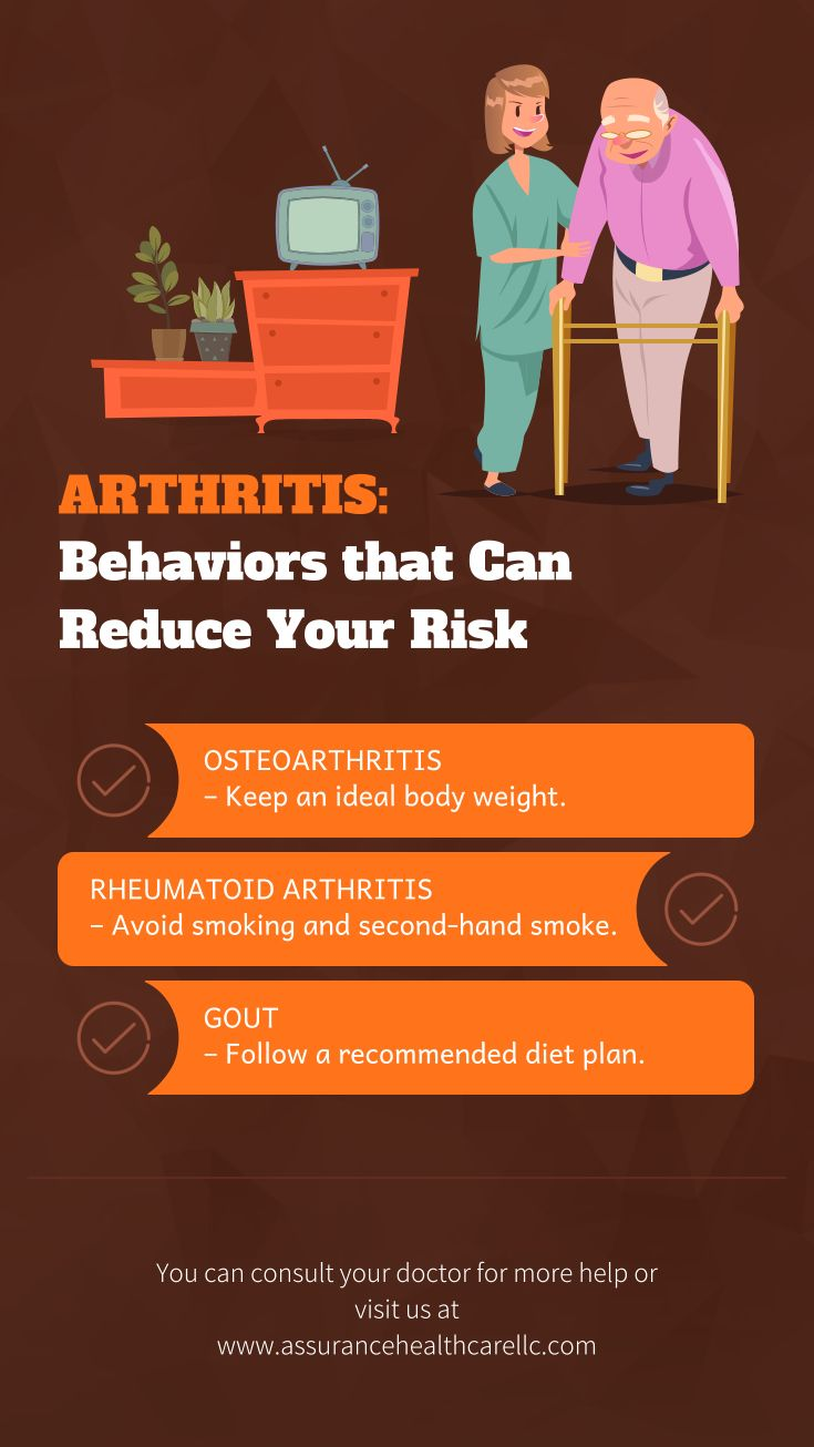 Behaviors that can Reduce Your Risk against #Arthritis