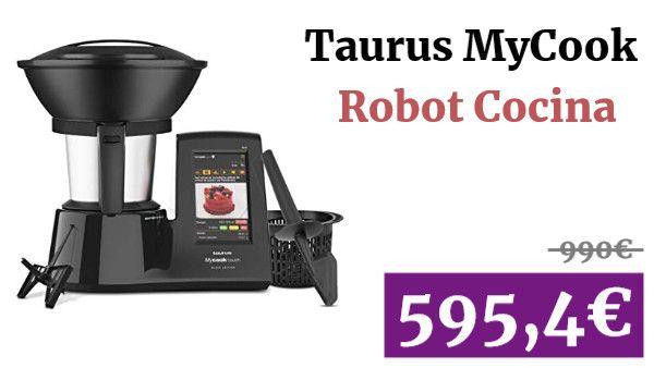Taurus Mycook Touch Black Edition Robot Cocina Hogar Vadegangas Amazon Taurus Robotdecocina Robot De Cocina Cocina Inteligente Robot