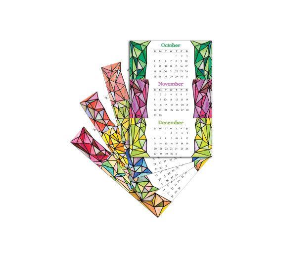 Printable Geometric Calendar 2015 by #Kalatirth