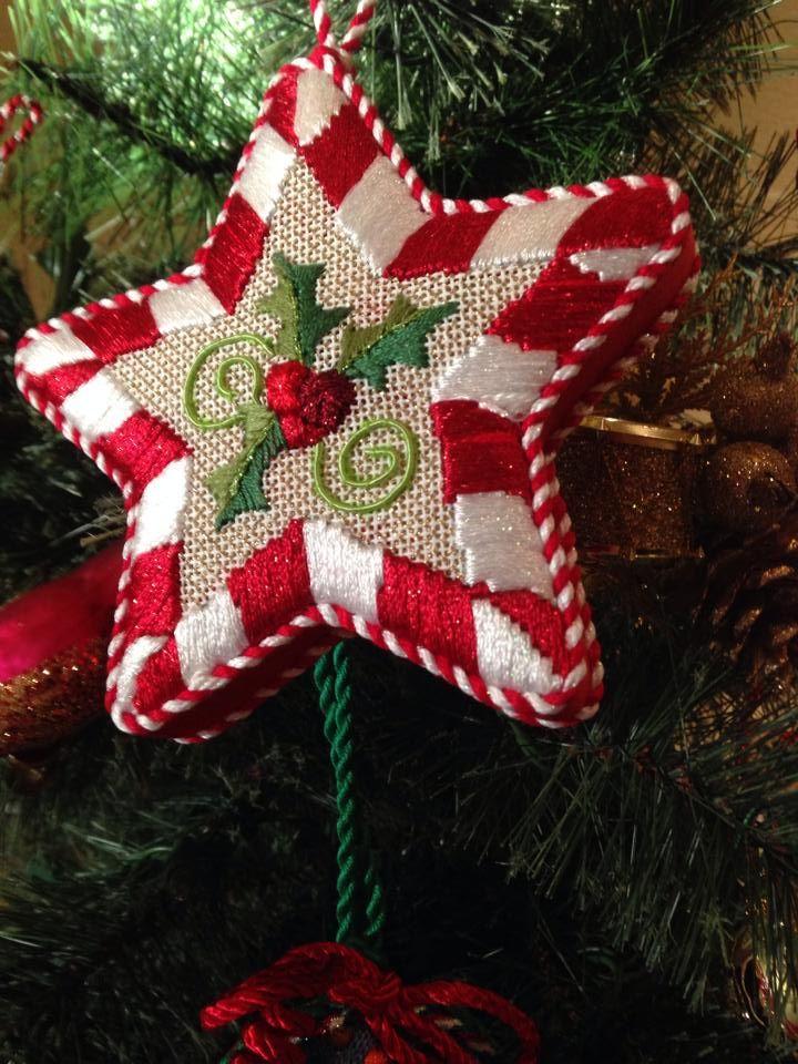 Fun star, needlepoint ornament