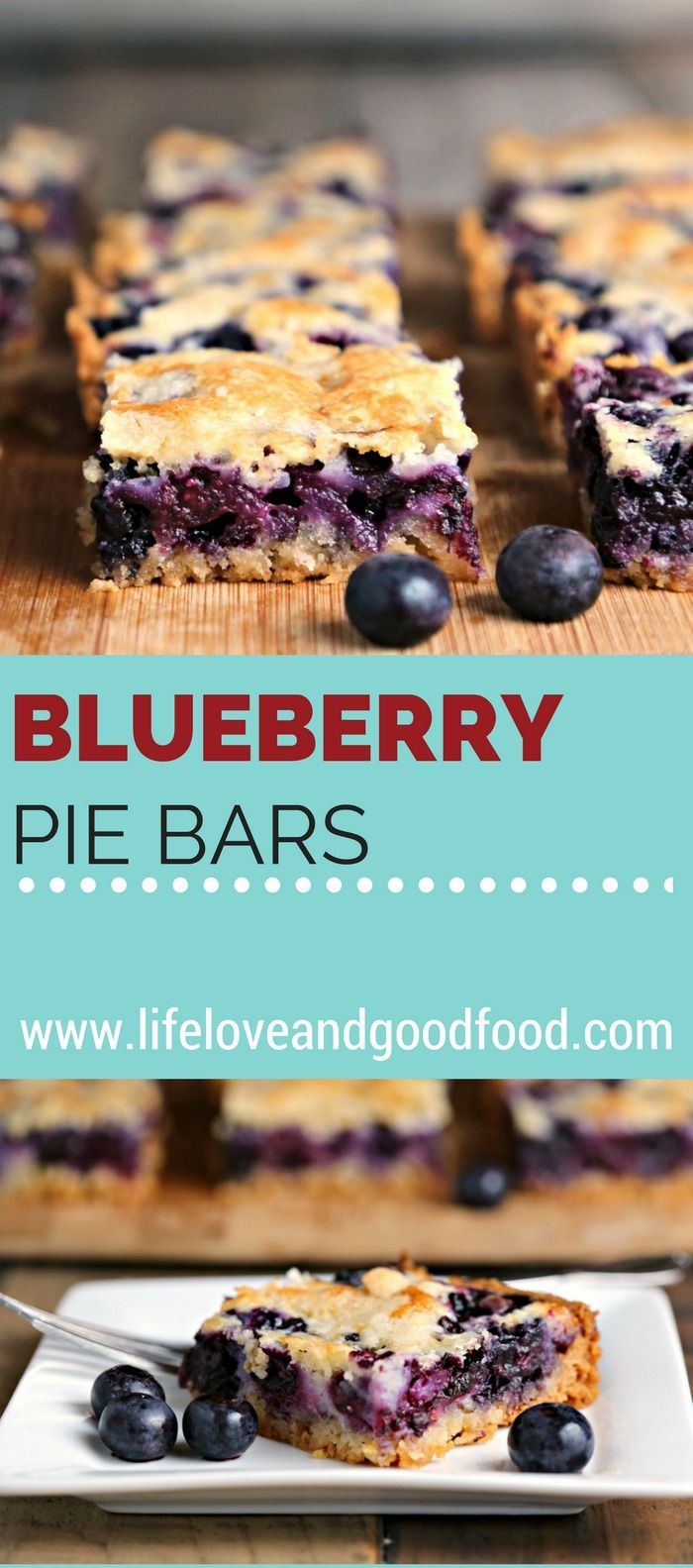 Blueberry Pie Bars | Life, Love, and Good Food #desserts: