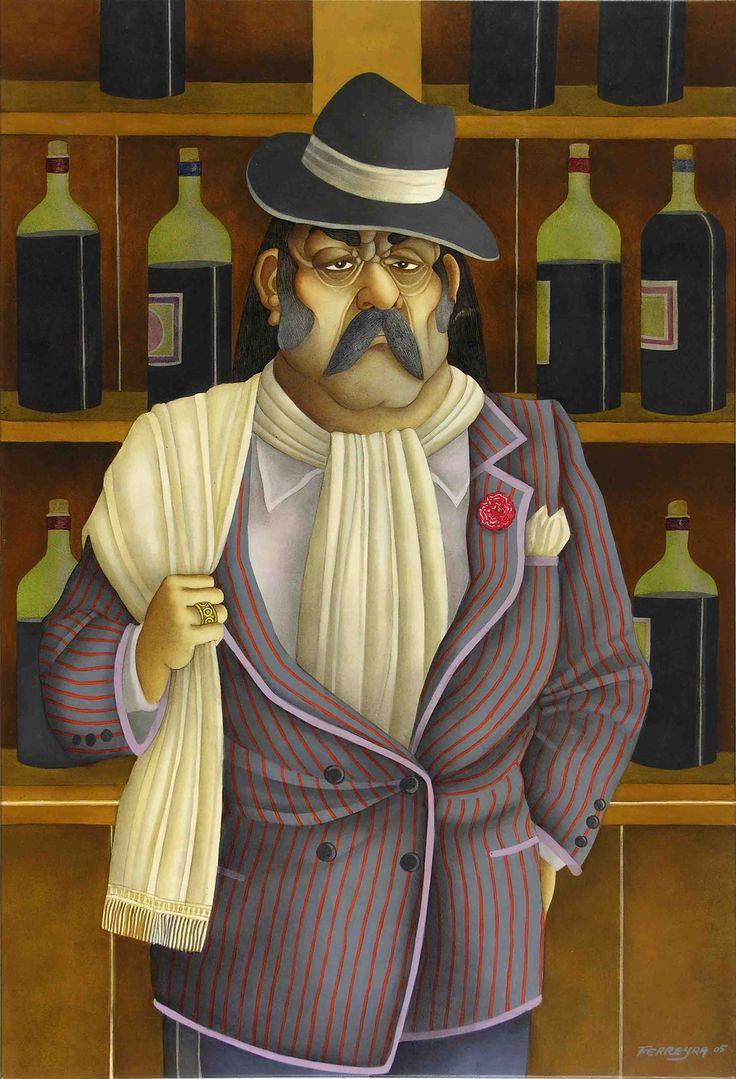 Milonga de Don Nicanor Paredes (2005) - Óleo s/tela 100 x 68
