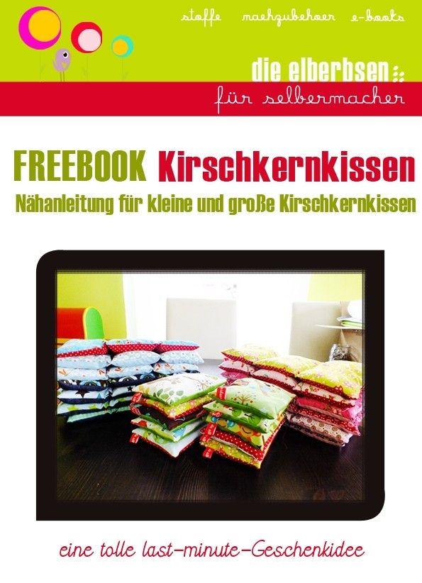Freebook - Nähanleitung und Schnittmuster kostenlos - Kirschkernkissen in 2 Größen