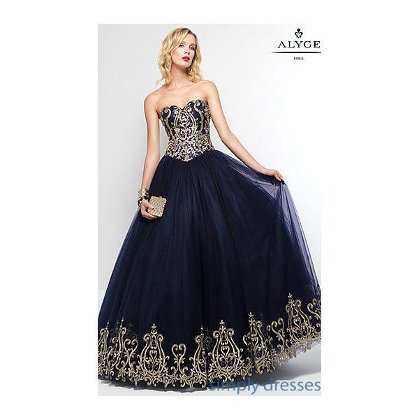 Ball Gowns, Plus Size Ball Gowns, Ballroom Gowns ($700) ❤ liked on Polyvore featuring dresses, gowns, plus size cocktail dresses, petite cocktail dress, prom gowns, blue evening gown and plus size evening dresses