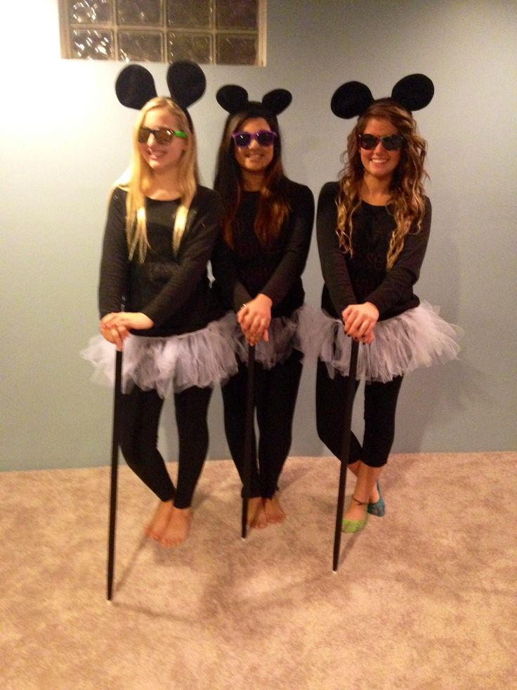 3 Blind Mice Diy Halloween Costumes For Girls  Halloween -5109