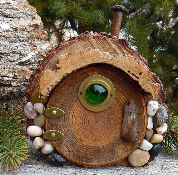Bosque de Knollwood Hobbit puerta ~ boscosa bosque ~ jardín puerta ~ casa de gnomo del bosque ~ hadas elfos hadas Pixie Elfin ~ Mini hadas jardín