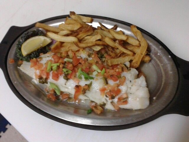 Tequila jalapeno fish- diced tomatoes,onions & jalepenos married with ...