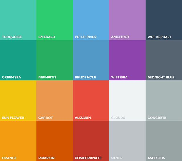 Flat Design, iOS 7, Skeuomorphism and All That Colour The principles of flat design can be applied to most colour schemes of your conjuration, but there's an evolving trend in colour theory being built alongside the induction of flat design. flatuicolors.com