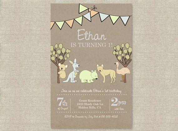 17 Best images about Australian Party – 1st Birthday Invitations Australia