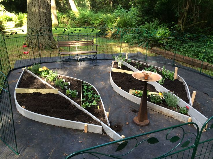 added some fencing from lowes leaf garden pinterest