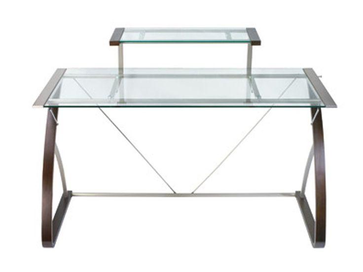 Merido Main Desk Glass computer desks, Home office