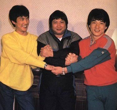 The three dragons. Yuen Biao, Sammo Hung and Jackie Chan... when these three get together the screen bursts to life and they are a joy to watch.  Dragons forever.
