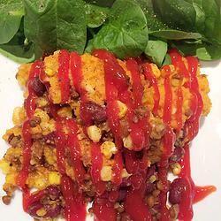 Pâté chinois mexicain aux patates douces - Dodo la grano )(recette végétarienne) vegan