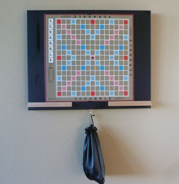 Magnetic Scrabble Board: Authentic Scrabble Board on Canvas with a Full Set of Magnetized Scrabble Tiles