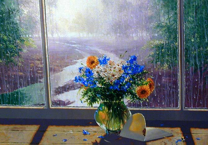 Early Morning Bouquet - Giclee on Canvas -- by Michael Gorban