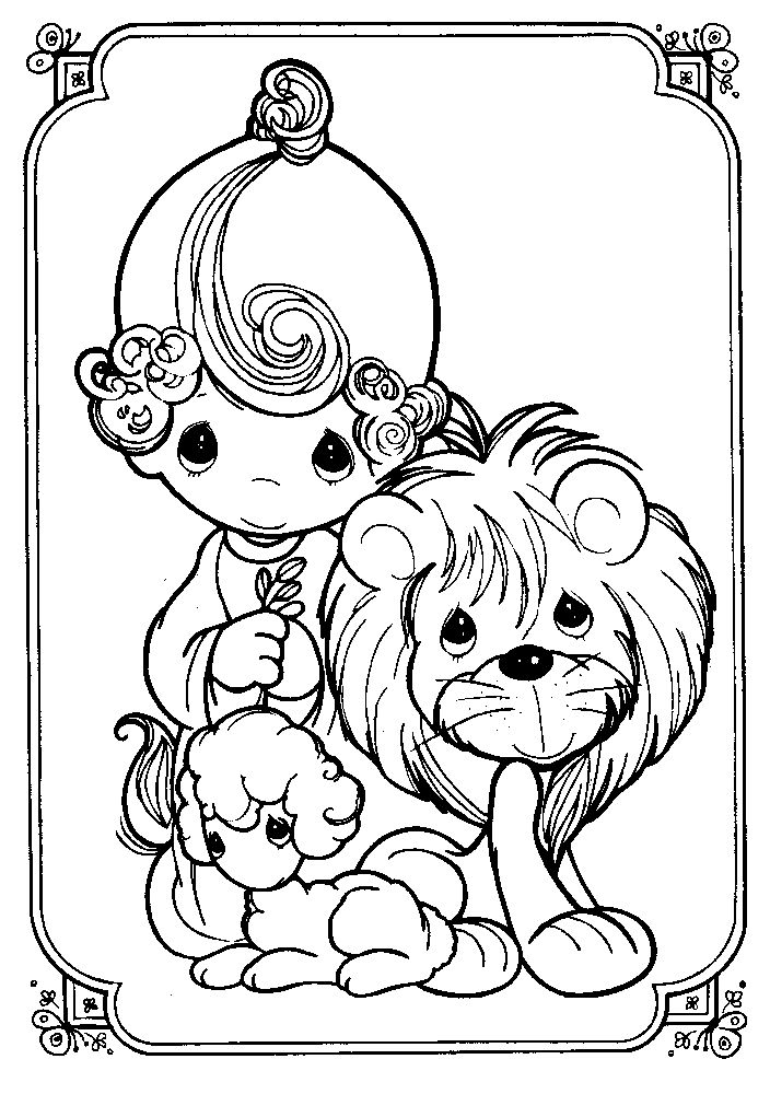 full pageprecious moments coloring pages - photo#22