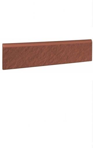 Plinta trepte klinker rosie Simple Red 3d Opoczno 30×8 cm  Element plinta trepte klinker rosie cu dimensiunea de 30×8 cm de culoare rosu caramiziu ce poate fi folosita pentru placarea scarilor interioare cat si exterioare. Suprafata fina si culoarea rosie clasica pentru terase exterioare dau valoare acestui model klinker in foarte multe tipuri de amenajari. Un produs foarte rezistent la inghet. #klinker #plintaklinker #simplered #opoczno