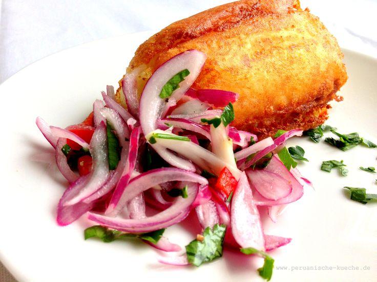Papa rellena - Gefüllte Kartoffel peruanische Art. Essen wie in Peru. Mit Rezept und Fotos der Zubereitung http://peruanische-kueche.de/papa-rellena/ Kochen wie in Peru.