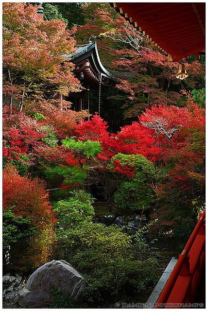 Autumn in Bishamon-do Temple, Kyoto, Japan
