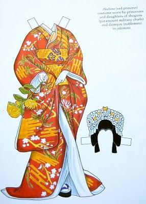 Kimono Reincarnate: Bookcase Tour Tuesday - Kabuki Costumes Paper Dolls